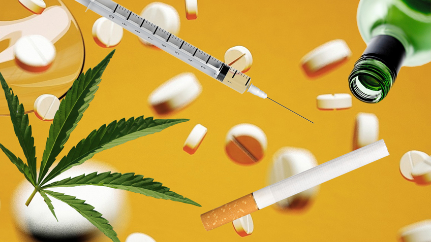 Drogen, das sind Zigratten und Alkohol, Cannabis und Tabletten