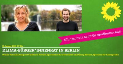 -Bürger*innenrat für Berlin - Klimaschutz heißt Gesundheitsschutz!-