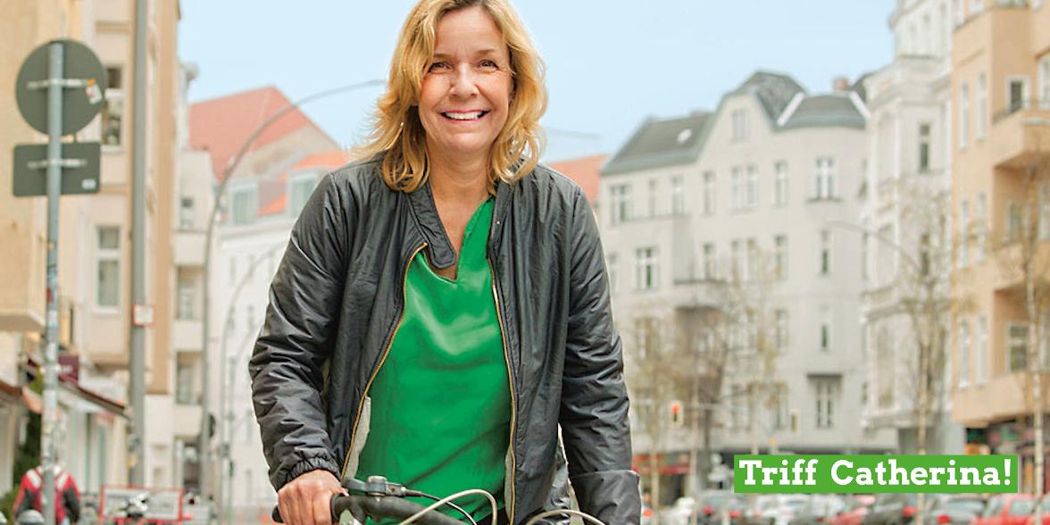 Catherina Pieroth-Manelli auf Fahrrad